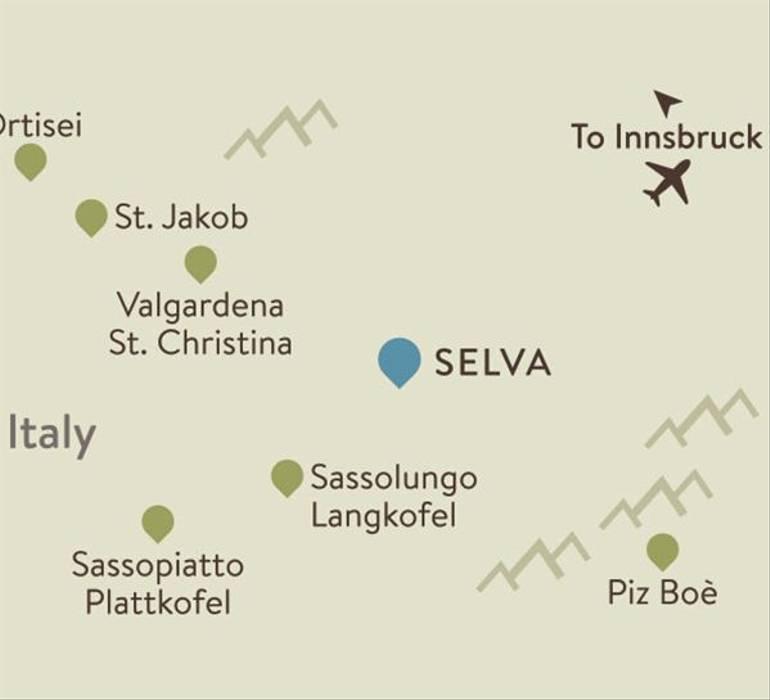 Selva Itinerary Map