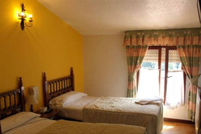 Bedroom of our hotel in the southern Picos de Europa