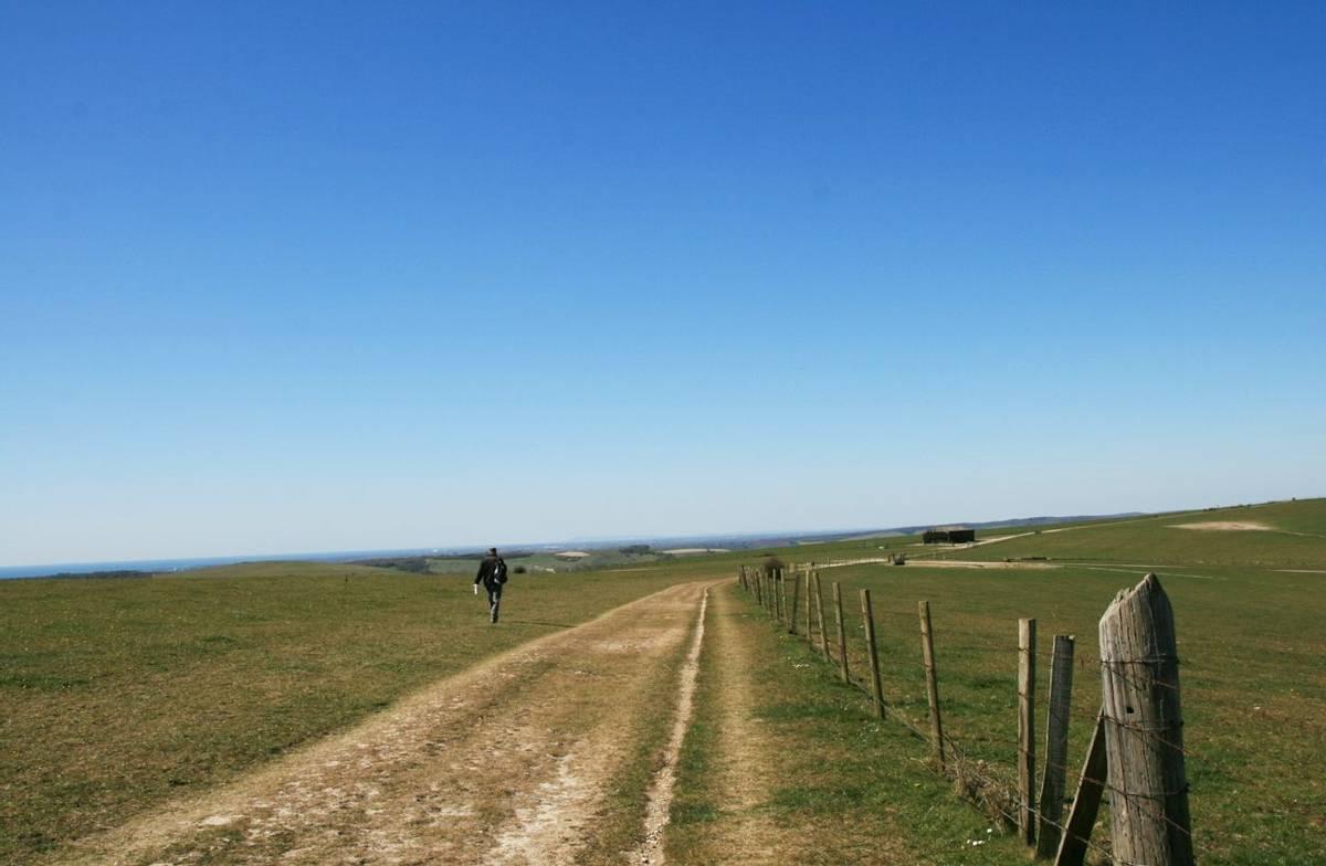 Man Walking South Downs Way.JPG