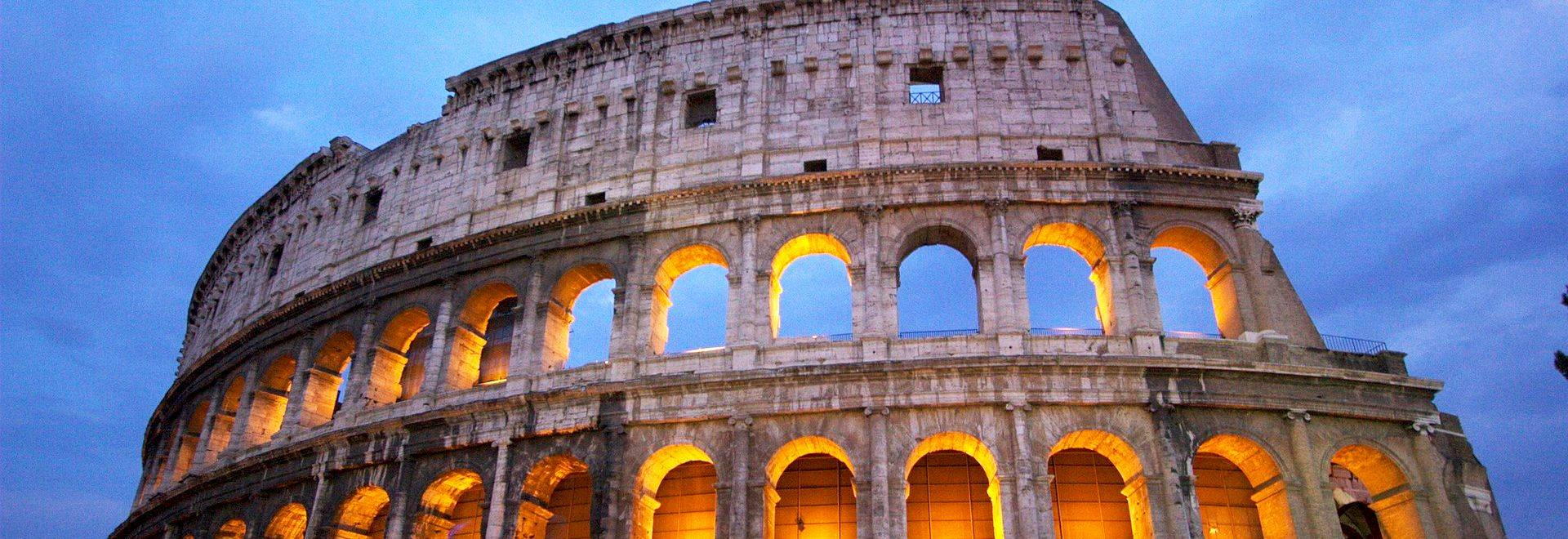 Italy Colosseum Night