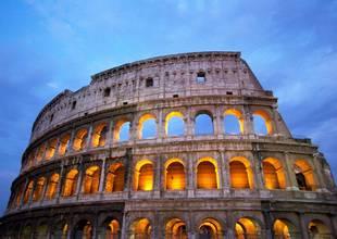 Italy Colosseum Night