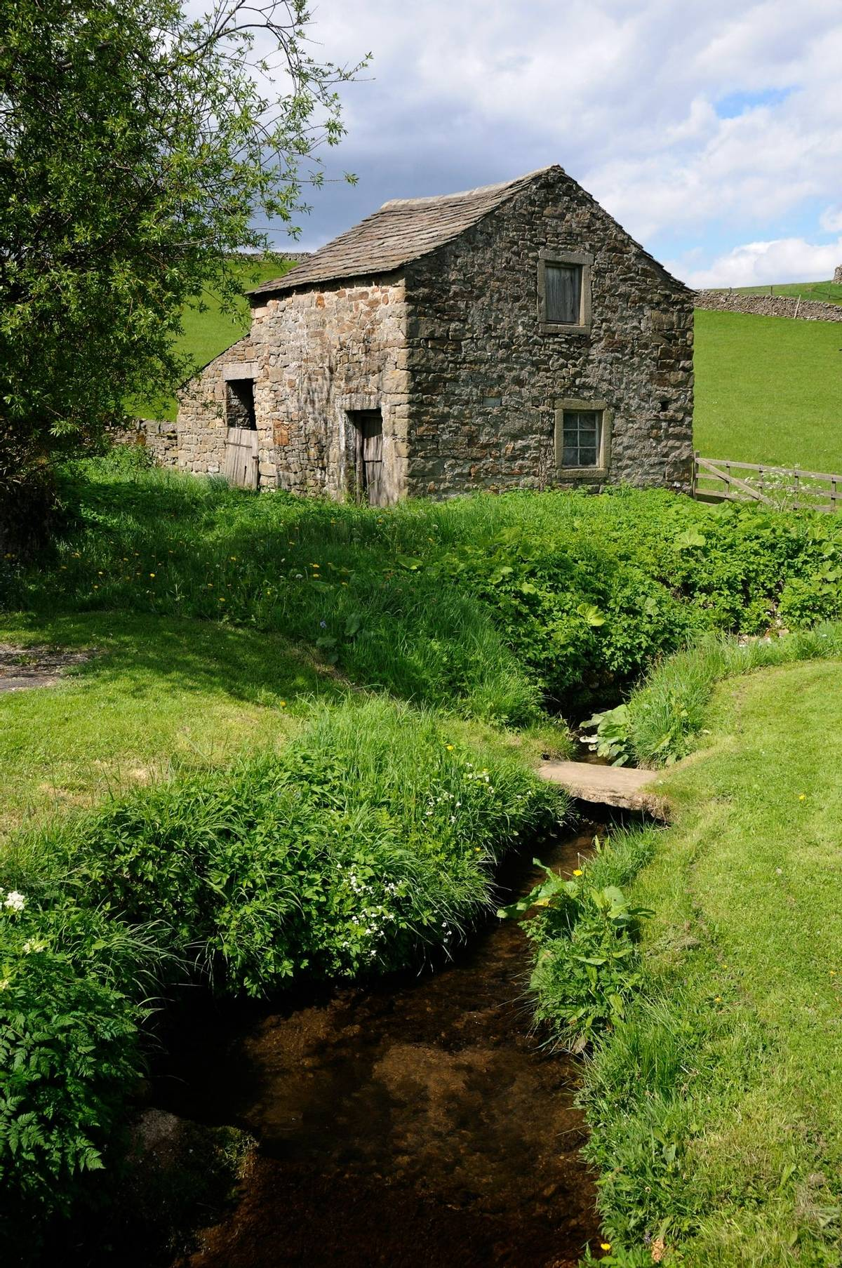 Farm building in peaceful Wharfedale