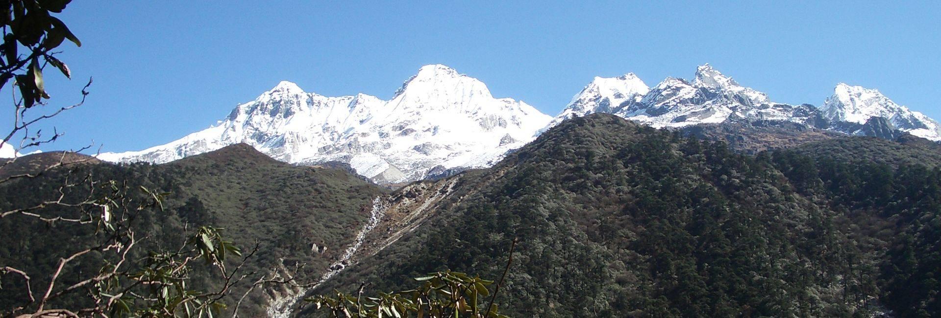 View from trail above Tshoka