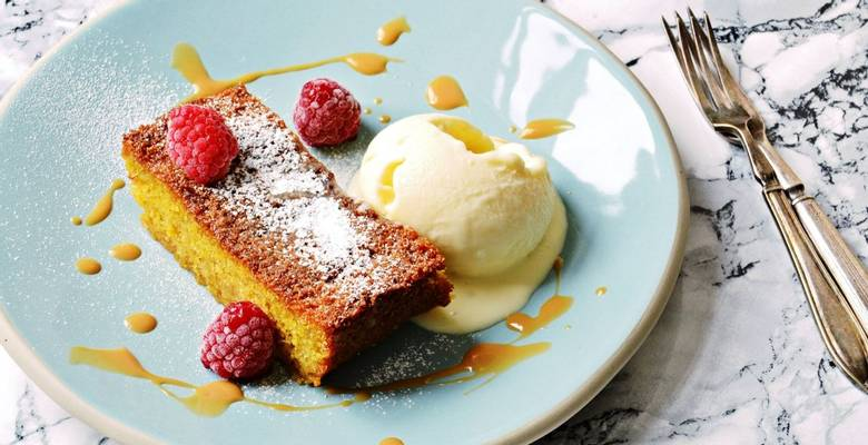 Sicillian Orange Polenta Cake