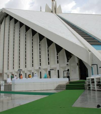 Faisal mosque in Islamabad