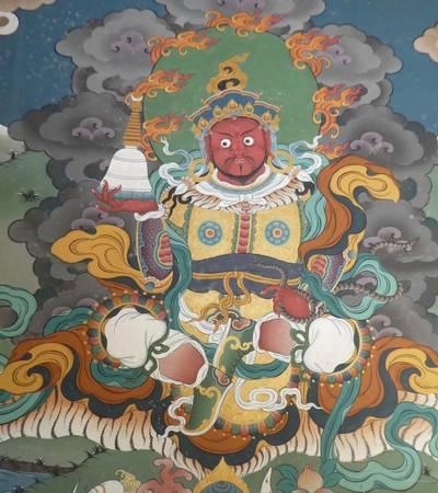 Paintings at Dagana Dzong