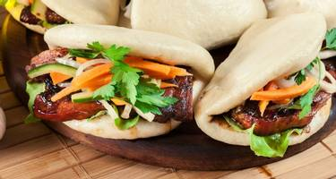Authentic Chinese Crispy Beef with Steamed Buns