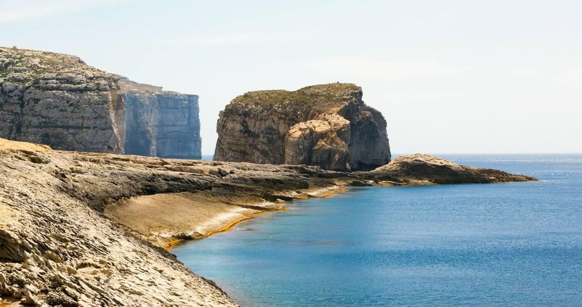 Fungus Rock, Dwajra Bay, Gozo, Malta