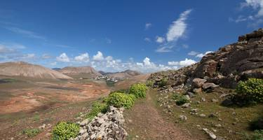Femes Valley hiking trail in the Ajaches Mountains on Lanzarote