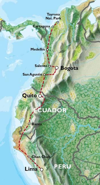 CARTAGENA TO LIMA (40 days) Colombian Adventure