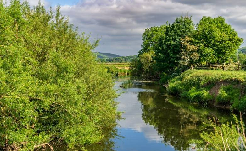 River Aire, North Yorkshire, England, UK