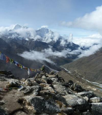 On summit of Nangkartshang Peak (5,080m)