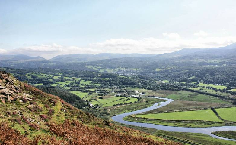 View of the Mawddach Estuary in Wales