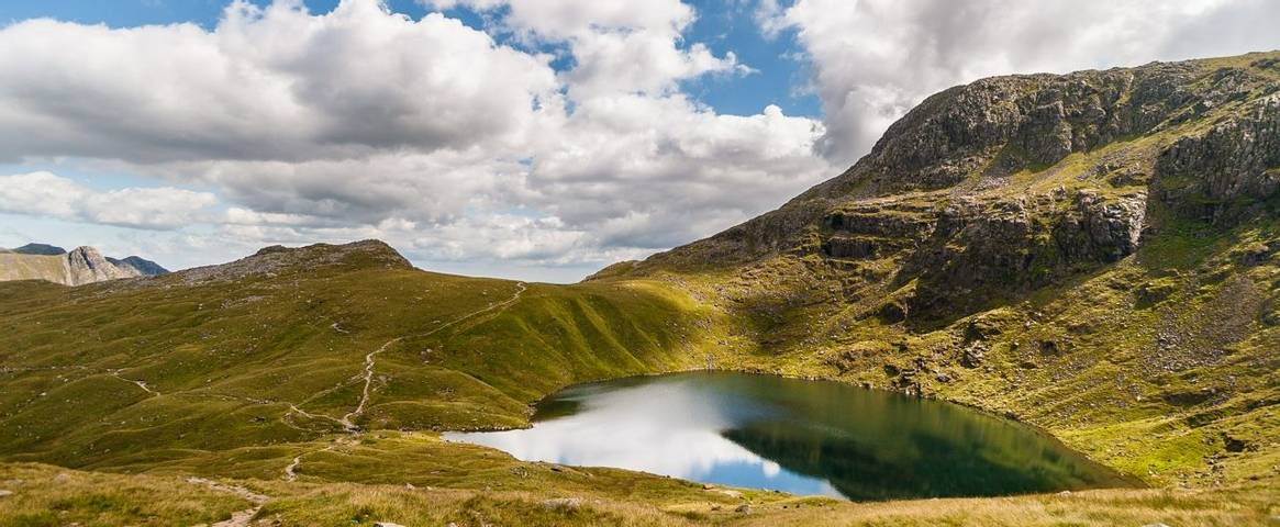 Angle Tarn in the Lake District National Park, Cumbria, England