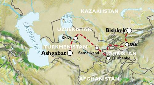 ASHGABAT to BISHKEK (20 days) Silk Road Highlights
