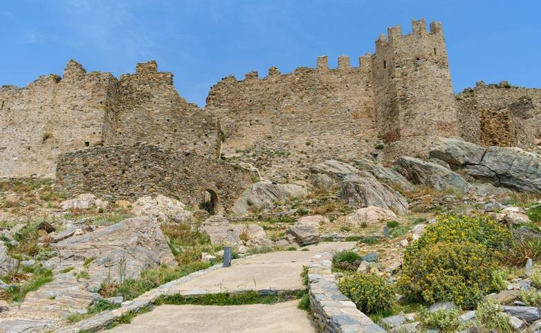 Castello Rosso (Red Castle) at Karystos, Evia, Greece, an old medieval Venetian castle