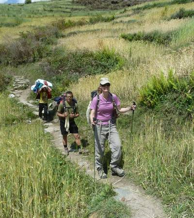 Trail leaving Khading village (2,025m)