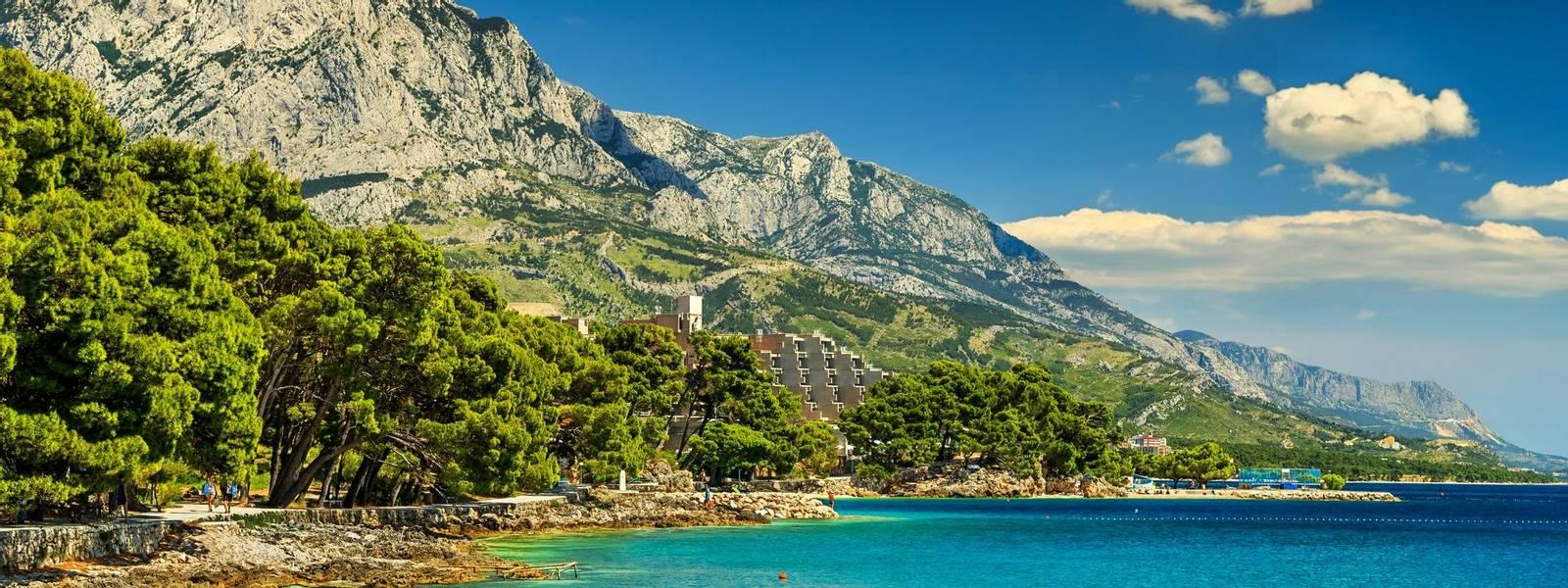 Beautiful bay and beach,Brela,Makarska riviera,Dalmatia,Croatia,Europe