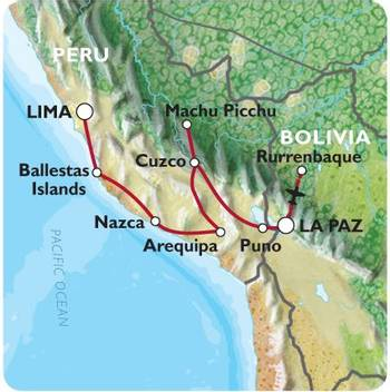 LIMA to LA PAZ (26 days) Peru & Bolivia Explorer (Inc. Amazon Jungle)