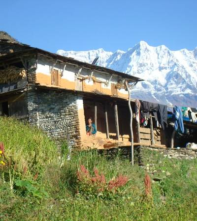 Traditional house in Muri village at 1,850m