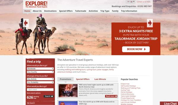 Explore Website