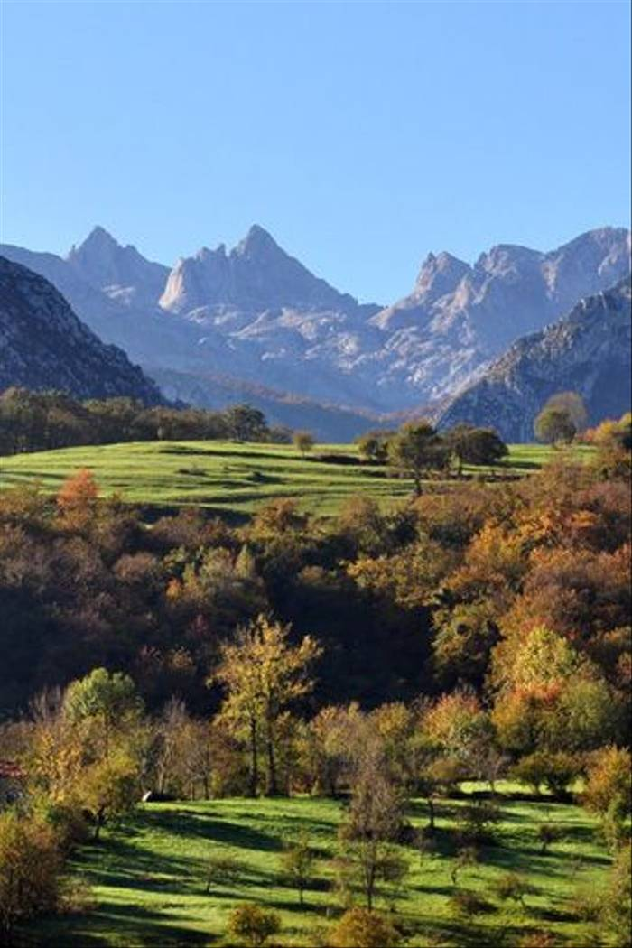 The view from our hotel in the northern Picos de Europa
