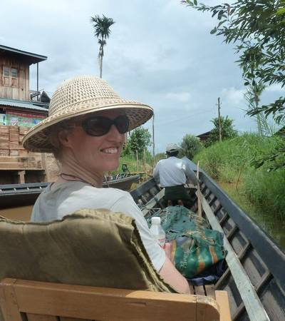 Long-tail boat on Inle lake