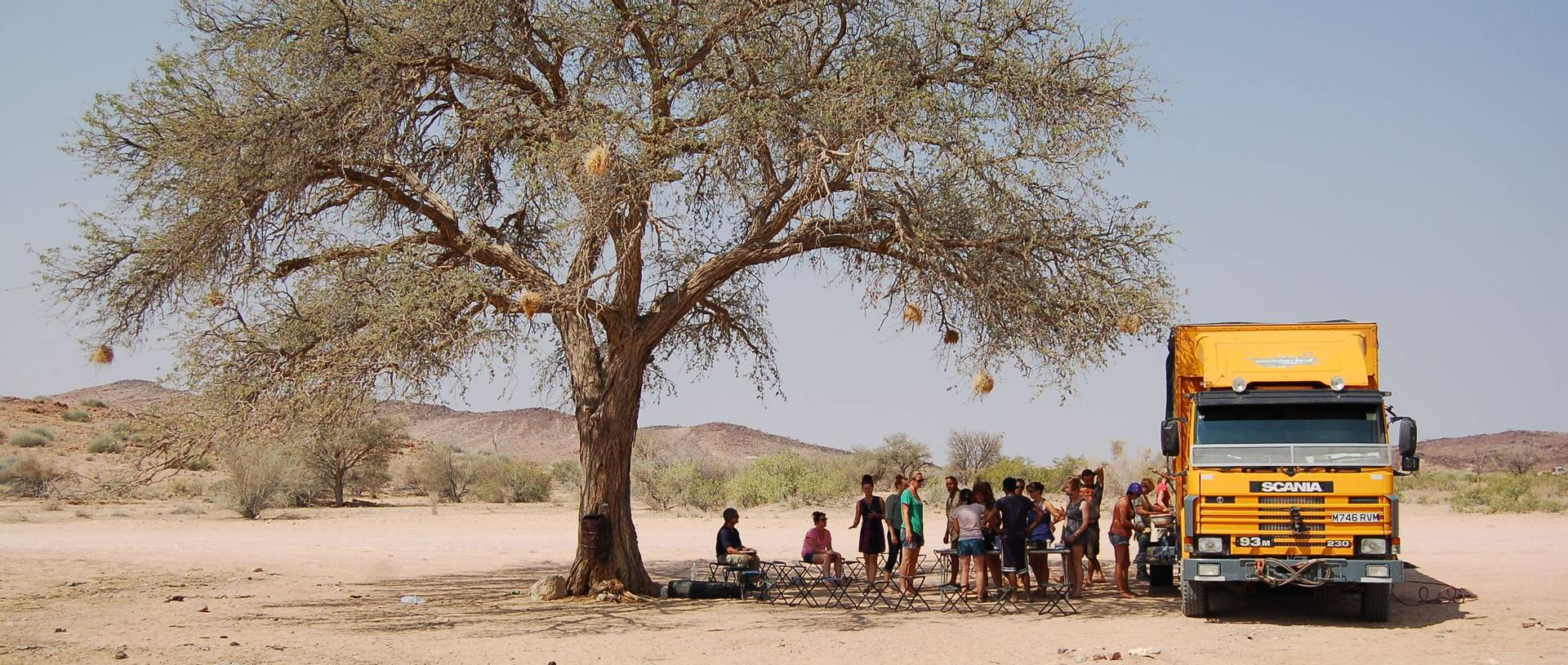 Roadside Lunch Stop In Namibia