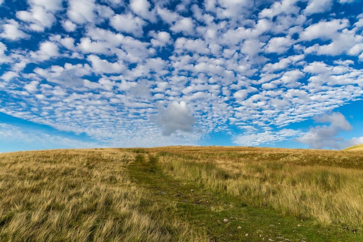 Cloudy landscape in the Yorkshire Dales, UK