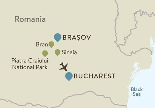 Romania Itinerary Map