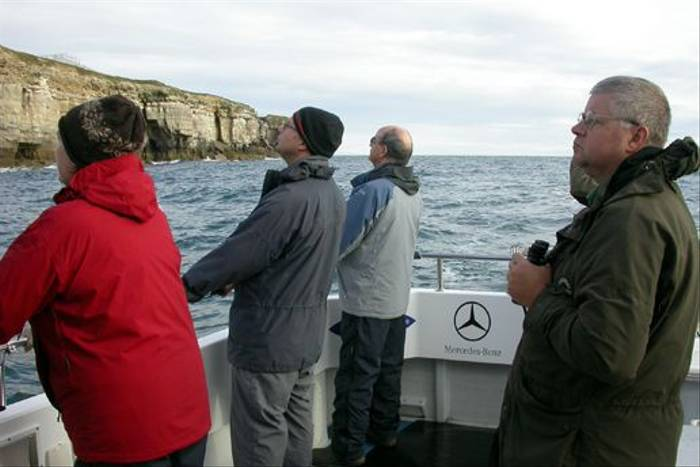 Group scanning the sea