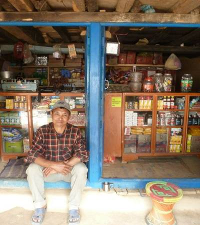 Shop owner at Rachyat village (1,780m)