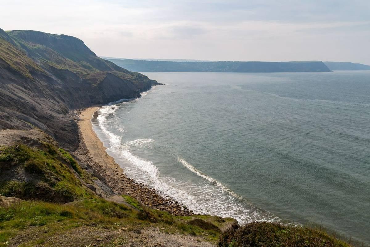 Yorkshire Coast near Whitby, North Yorkshire, UK