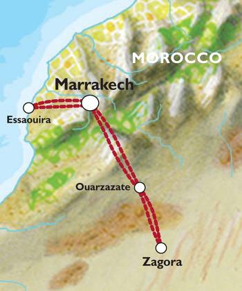 MARRAKECH to MARRAKECH (5 days) Morocco Express