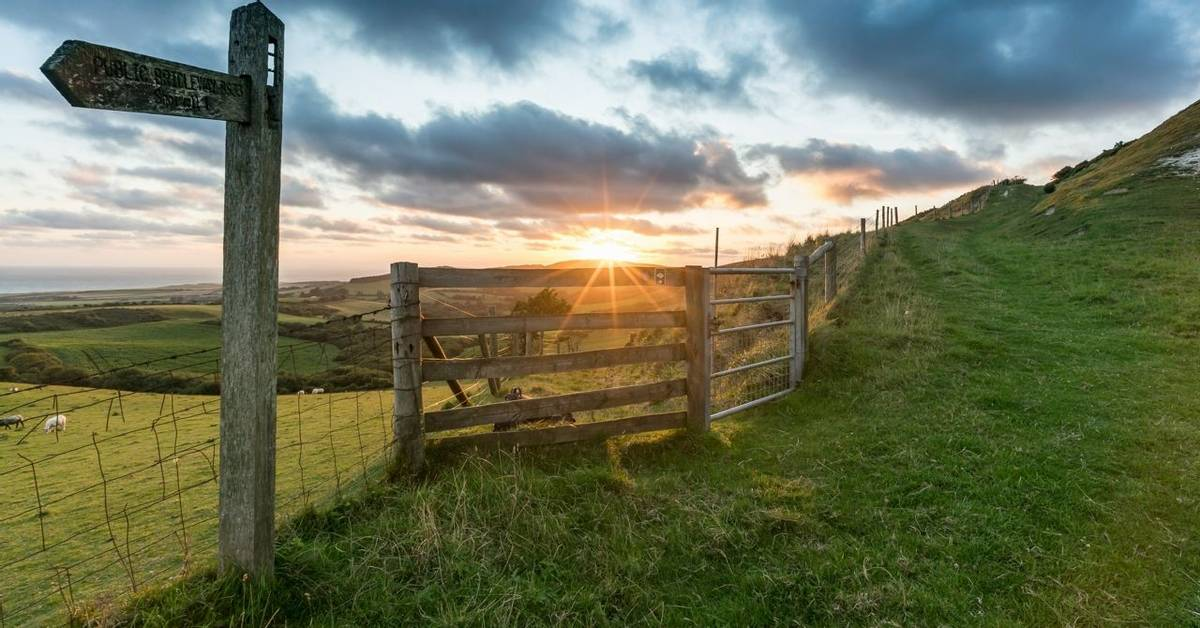 Sunset on Limerstone Down, Isle of Wight