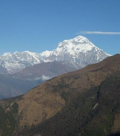 View of Mount Dhaulagiri (8,167m) from Bayeli lodge