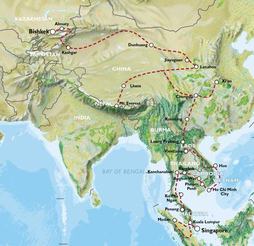 BISHKEK to SINGAPORE (104 days) Indochina Explorer