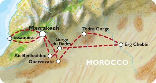 MARRAKECH to MARRAKECH (12 days) Souks, Sand Dunes & Surf