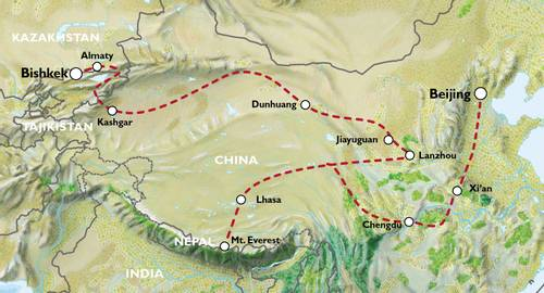 BISHKEK to BEIJING (35 days) Kyrgyzstan & China