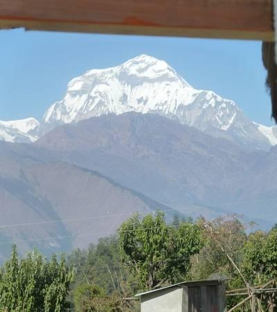 Mt Dhaulagiri from Swanta lodge