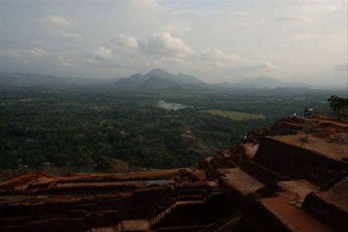 Sigiriya fortress atop the rock (Thomas Mills)