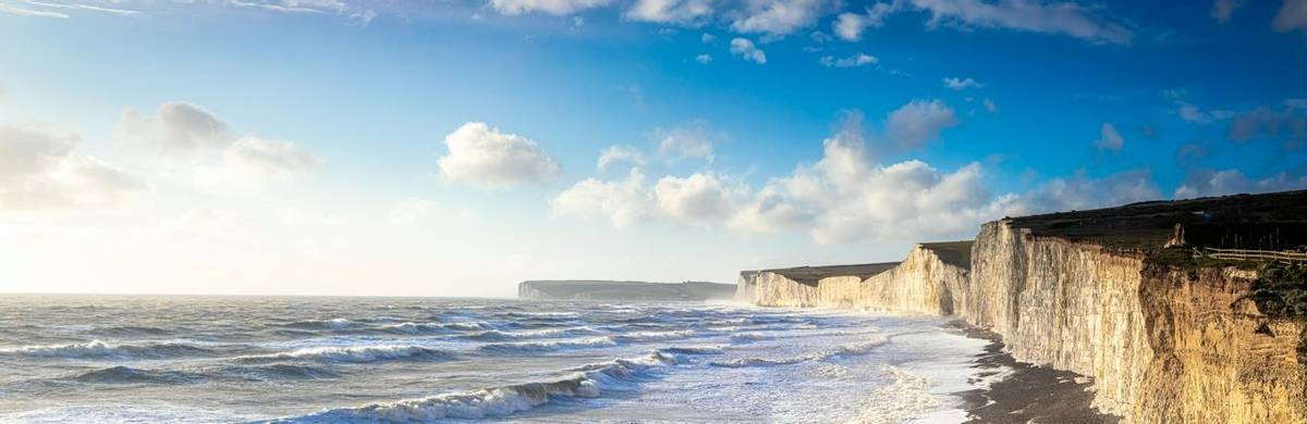 Panorama of Seven sisters in England, UK