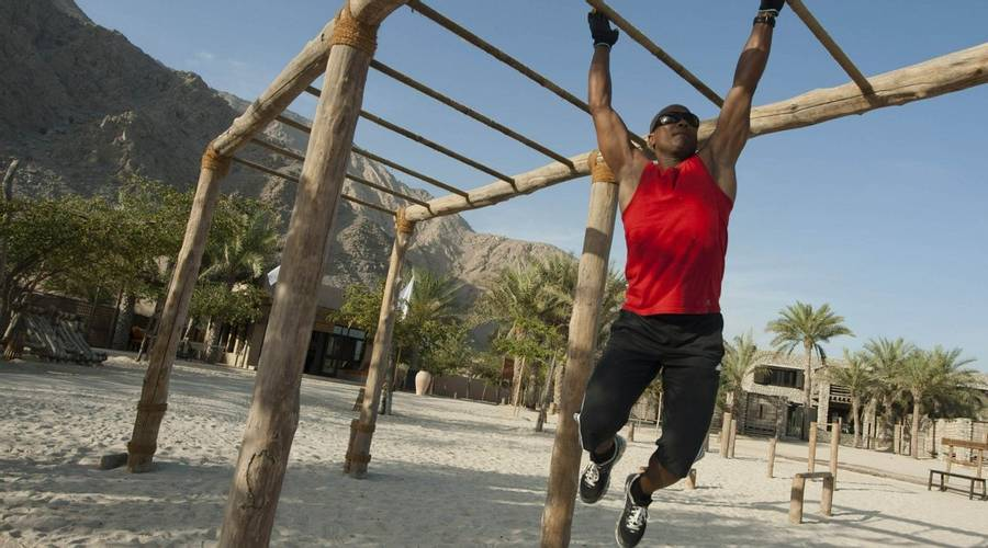 Fitness session at Zighy Bay