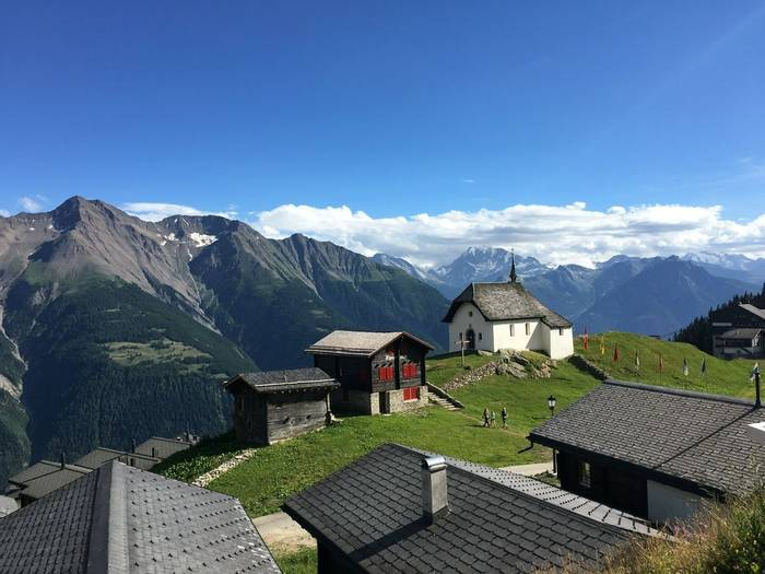 Views across Bettermalp and Valais  (Kerrie Porteous)
