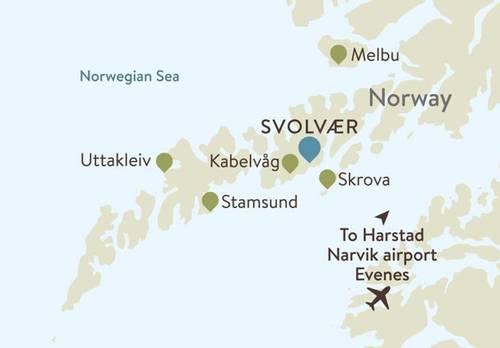 Lofoten Islands Itinerary Maps