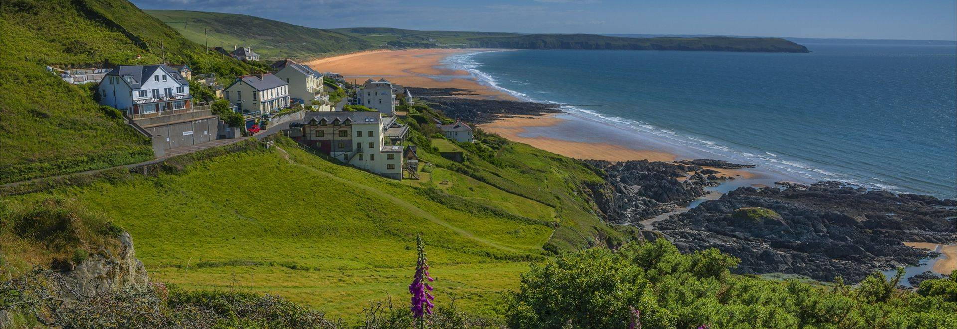 A view to the Woolacombe sands, perhaps one of England's finest sandy beaches. Devon.