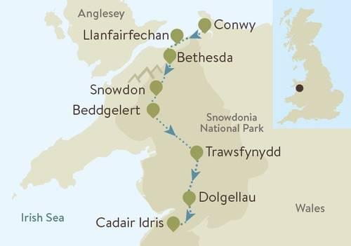 Snowdonia Way Map