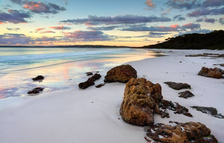 The sunrise at Hyams Beach was beautiful.  Jervis Bay NSW Australia