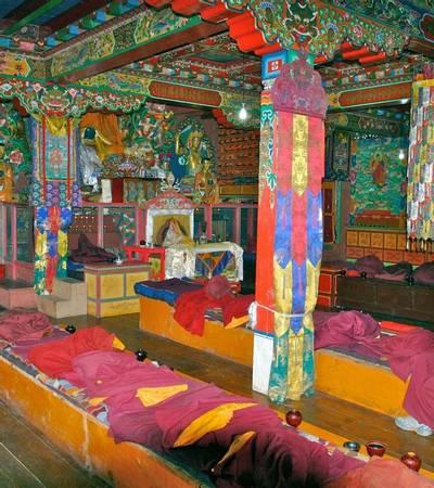 Inside Tengboche monastery (3,860m)