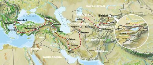 BISHKEK to ISTANBUL (79 days) Kyrgyzstan,  Iran,The 'Stans' & Turkey